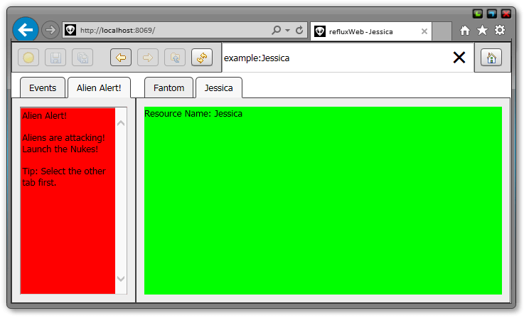 Example Javascript Screenshot